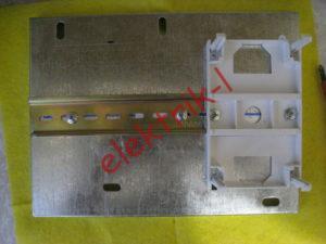 Установка DIN-рейки для счетчика и нижней части бокса для пломбировки
