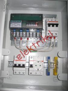 Соединение вводного автомата и счетчика