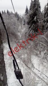 Заземление траверсы через тело опоры(фрагмент)